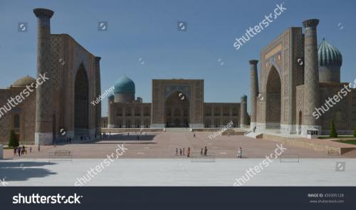 stock photo samarkand uzbekistan